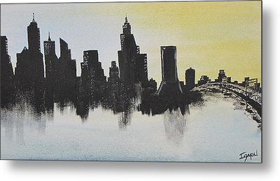 Metal Print featuring the painting Jacksonville Florida by Gary Smith