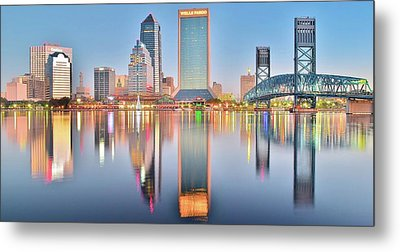 Jacksonville Reflecting Metal Print by Frozen in Time Fine Art Photography