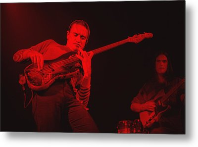 Jaco On Air - Red Metal Print by Philippe Taka