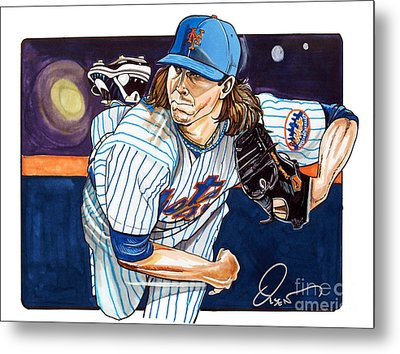 Jacob Degrom Of The New York Mets Metal Print by Dave Olsen
