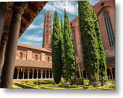 Metal Print featuring the photograph Jacobin Convent In Toulouse by Elena Elisseeva