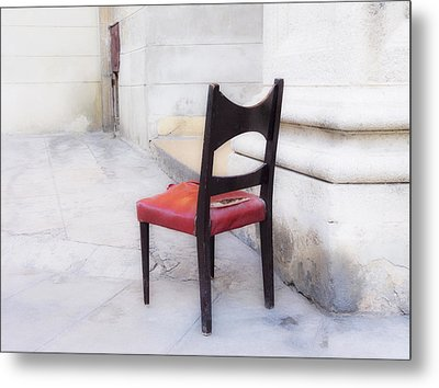 Jacob's Chair Metal Print by Artecco Fine Art Photography