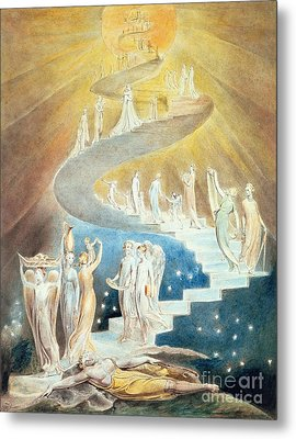 Jacobs Ladder Metal Print by William Blake