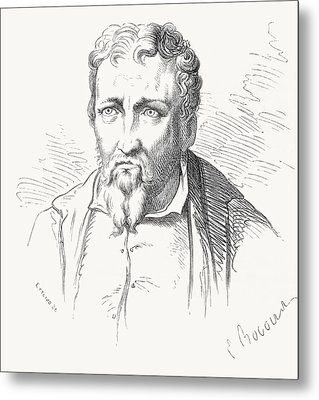 Jacopo Carucci, 1494 Metal Print by Vintage Design Pics