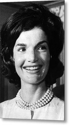 Jacqueline Kennedy As First Lady. Ca Metal Print by Everett