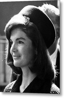 Jacqueline Kennedy, Joins The President Metal Print