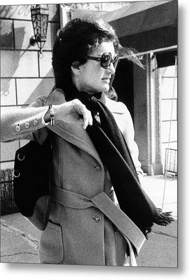 Jacqueline Kennedy Onassis, A Recently Metal Print
