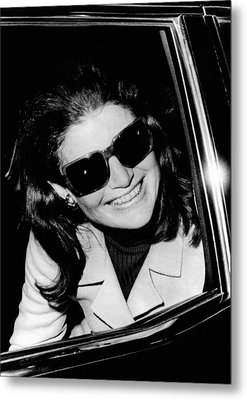 Jacqueline Kennedy Onassis Smiles Metal Print