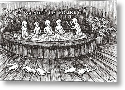 Metal Print featuring the drawing Jacuzzi 1 by R  Allen Swezey