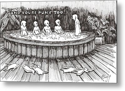 Metal Print featuring the drawing Jacuzzi 2 by R  Allen Swezey