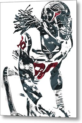 Jadeveon Clowney Houston Texans Pixel Art Metal Print by Joe Hamilton