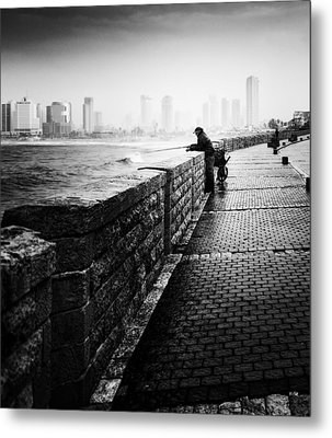 Jaffa Port Metal Print by Hayato Matsumoto