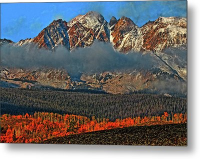 Metal Print featuring the photograph Jagged Peaks Fall by Scott Mahon