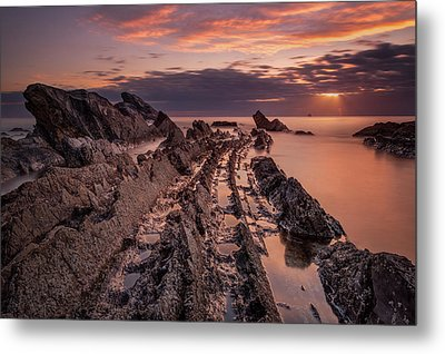 Jagged Rocks Metal Print