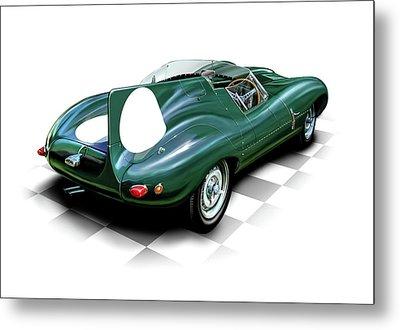 Jaguar D Type Metal Print
