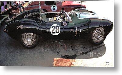 Jaguar D Type Hdr Metal Print