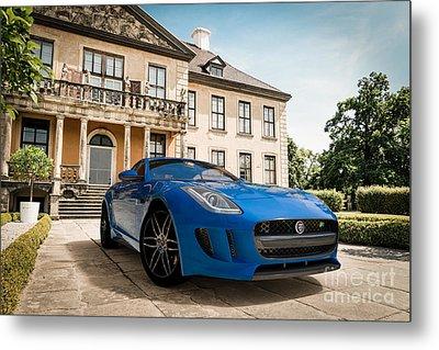 Jaguar F-type - Blue - Villa Metal Print