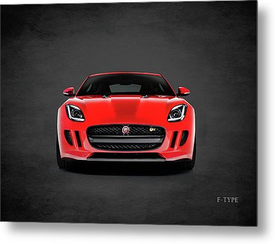 Jaguar F Type Metal Print