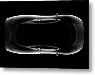 Jaguar Xj220 - Top View Metal Print