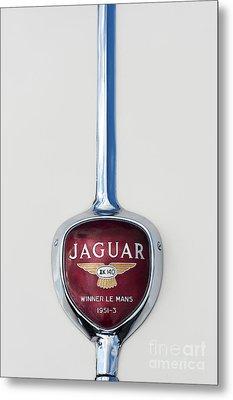 Jaguar Xk 140 Trunk Badge Metal Print by Tim Gainey