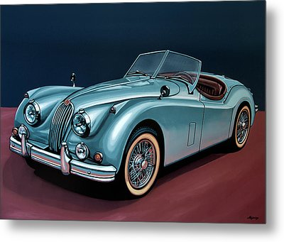 Jaguar Xk140 1954 Painting Metal Print by Paul Meijering