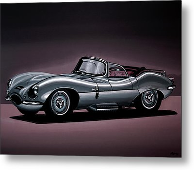 Jaguar Xkss 1957 Painting Metal Print by Paul Meijering