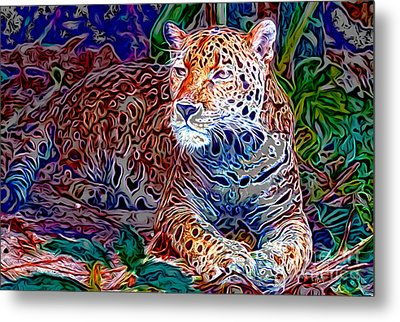 Jaguar Metal Print by Zedi