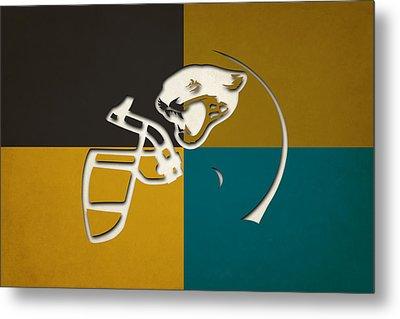 Jaguars Helmet Art Metal Print