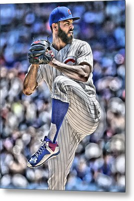 Jake Arrieta Chicago Cubs Metal Print by Joe Hamilton