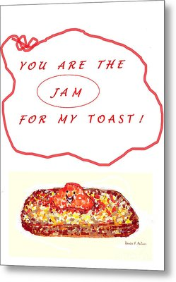 Metal Print featuring the drawing Jam For My Toast by Denise Fulmer