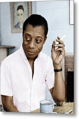 Metal Print featuring the photograph James Baldwin by Granger