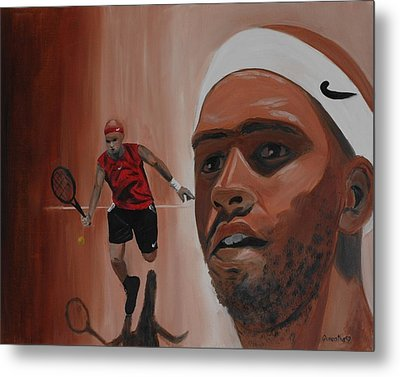Metal Print featuring the painting James Blake by Quwatha Valentine