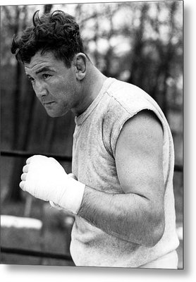 James Braddock In Training For Upcoming Metal Print by Everett