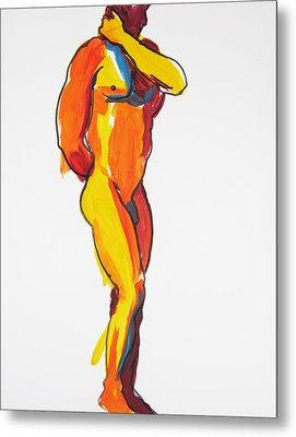 James Classic Pose Metal Print by Shungaboy X