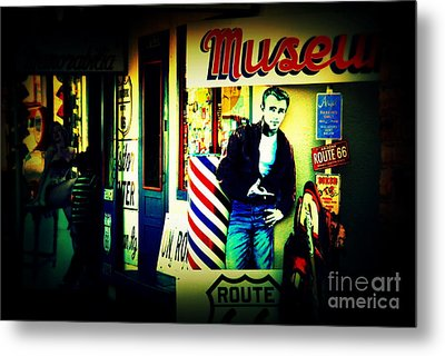 James Dean On Route 66 Metal Print by Susanne Van Hulst