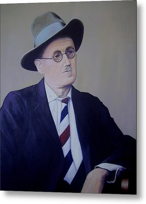 James Joyce Metal Print by Eamon Doyle