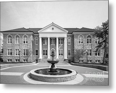 James Madison University Carrier Library Metal Print by University Icons
