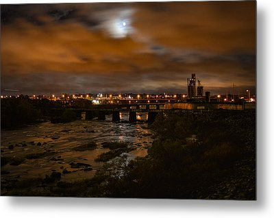 James River At Night Metal Print