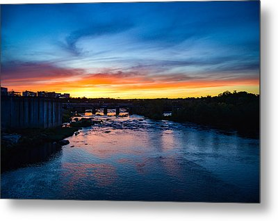 James River Sunset Metal Print