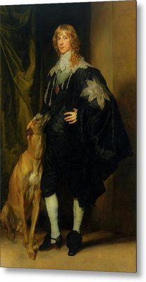 Metal Print featuring the painting James Stuart - Duke Of Richmond And Lennox                       by Anthony Van Dyck