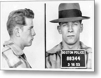 James Whitey Bulger Booking Photo 1953 Metal Print by Daniel Hagerman
