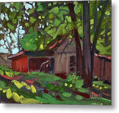 James's Barn Metal Print