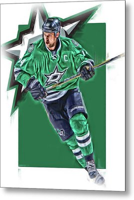 Jamie Benn Dallas Stars Oil Art Series 1 Metal Print