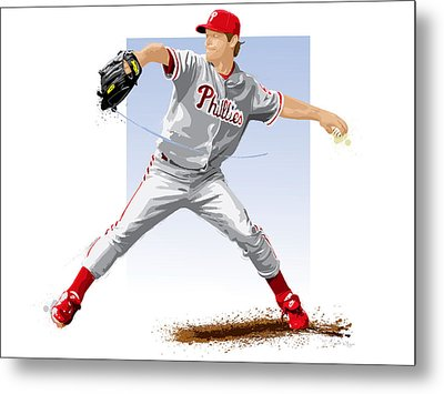 Jamie Moyer Metal Print by Scott Weigner