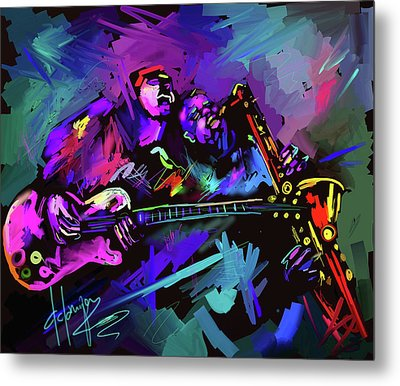 Jammin' The Funk Metal Print by DC Langer