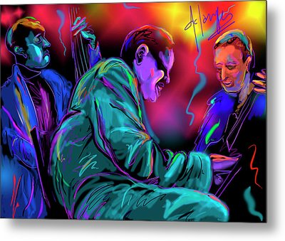 Jamming With Oscar Metal Print by DC Langer