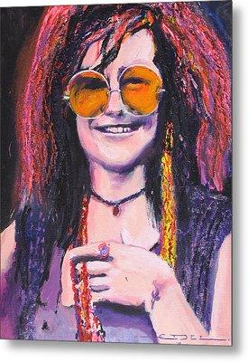 Janis Joplin 2 Metal Print by Eric Dee