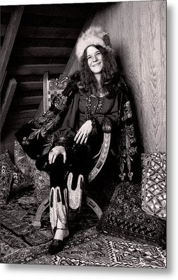 Janis Joplin Casual Metal Print