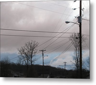 Metal Print featuring the photograph January Blue Sky by Lindie Racz