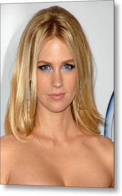 January Jones At Arrivals For 2009 Pga Metal Print by Everett